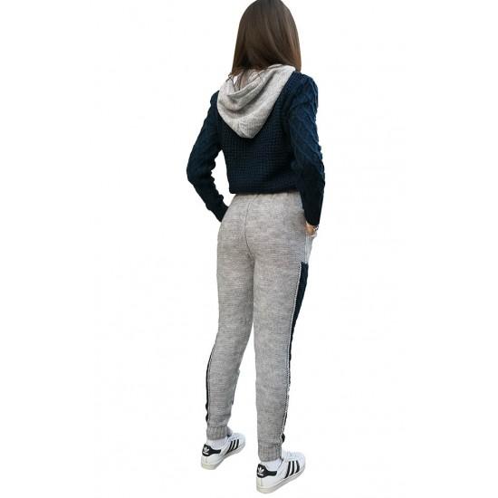 Compleu dama cozy gri-bleumarin-631