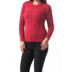 Pulover damaweave culoare rosu