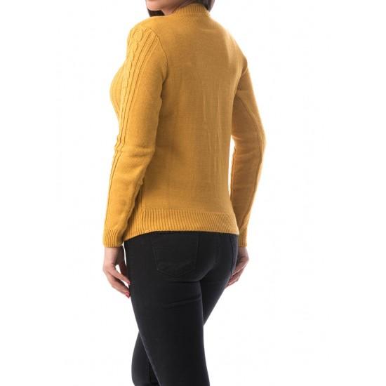 Pulover damacircle culoare galben