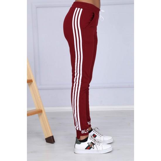Pantaloni sport damă culoare grena