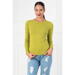Bluza dama simpla casual DD culoare  verde oliv
