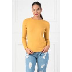 Bluza dama simpla casual DD culoare galbena