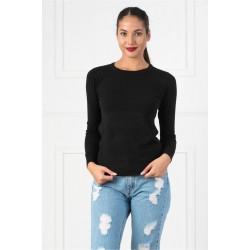 Bluza dama simpla casual DD culoare neagra