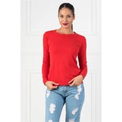 Bluza dama simpla casual DD culoare rosie