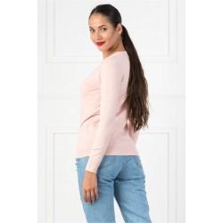 Bluza dama simpla casual DD culoare roz pudra