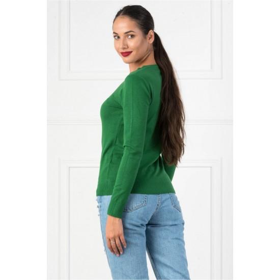 Bluza dama simpla casual DD culoare verde