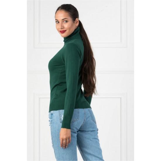 Bluza dama simpla casual stil helanca culoare verde