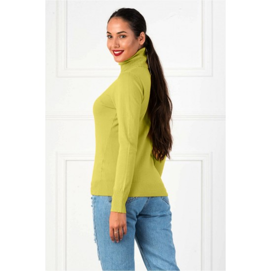 Bluza dama simpla casual stil helanca culoare verde oliv