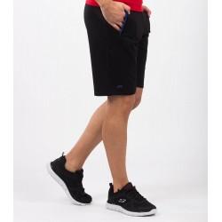 Pantaloni scurti barbati summerstyle negru si albastru royal