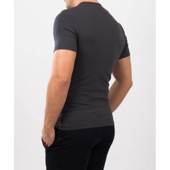 Tricou barbati slim fit for him culoare fume