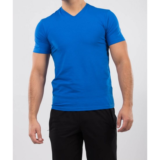 Tricou barbati slim fit for him culoare albastru royal