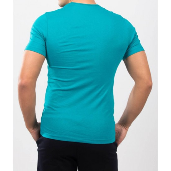 Tricou barbati slim fit for him culoare Smarald