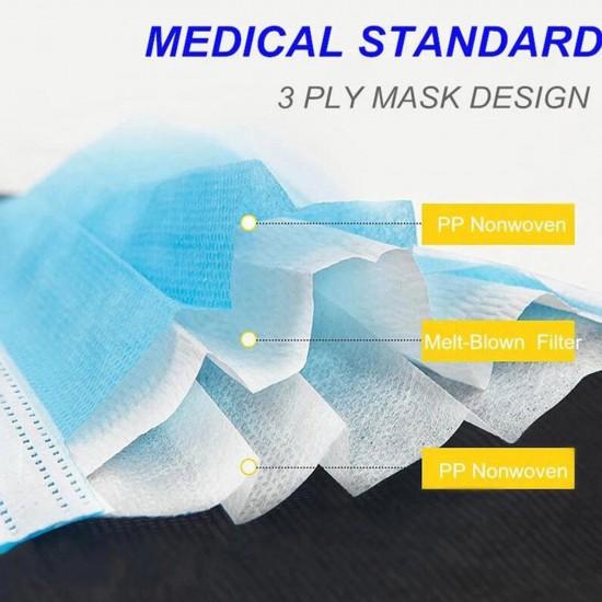 Masti de protectie 3 straturi - Set 50 bucati de unica folosinta, BFE >95%, tip I