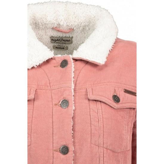 Geaca dama urban surface din catifea captusita culoare roz