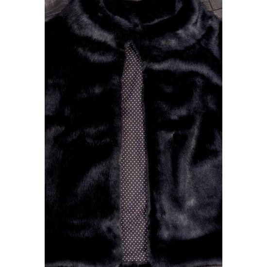 Capa dama de blana artificiala neagra NOA- 82030