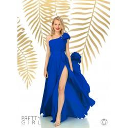 Fusta dama lunga petrecuta albastra