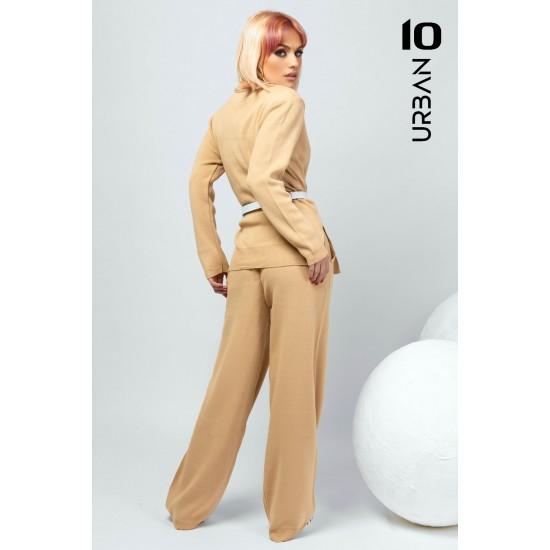 Compleu dama URBAN10 din tricot bej