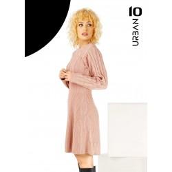 Rochie dama din tricot in clos culoare roz pudra