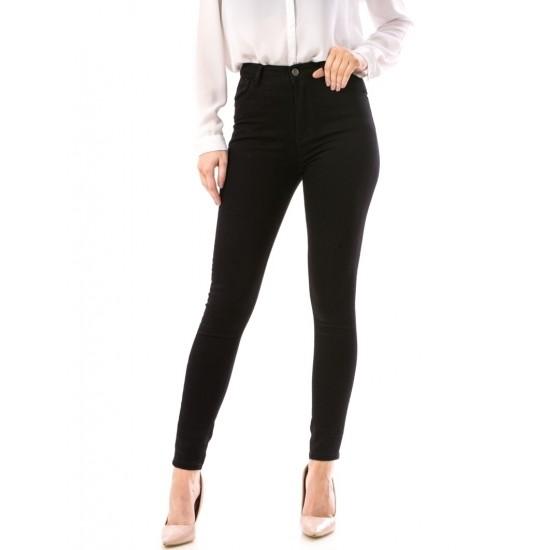 Blugi dama skinny simpli culoare negru