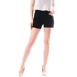 Pantaloni dama scurti din denim culoare negru
