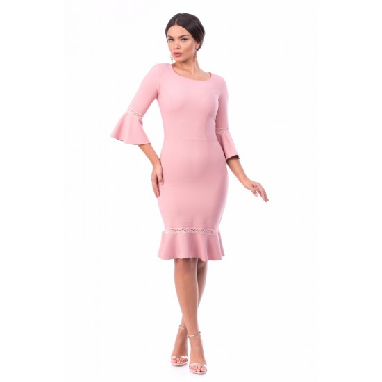 Rochie dama latina culoare roz pudra