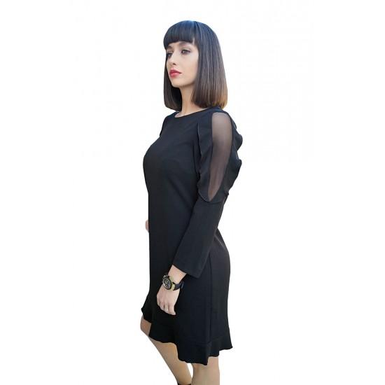 Rochie lejera dama Maya culoare neagra 45r