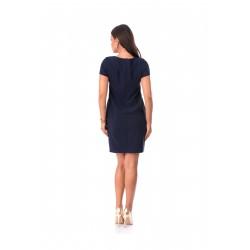 Rochie adela 40r culoare bleumarin