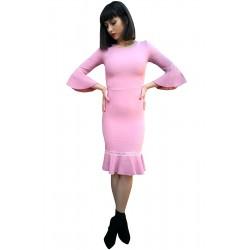Rochie dama latina roz pudra