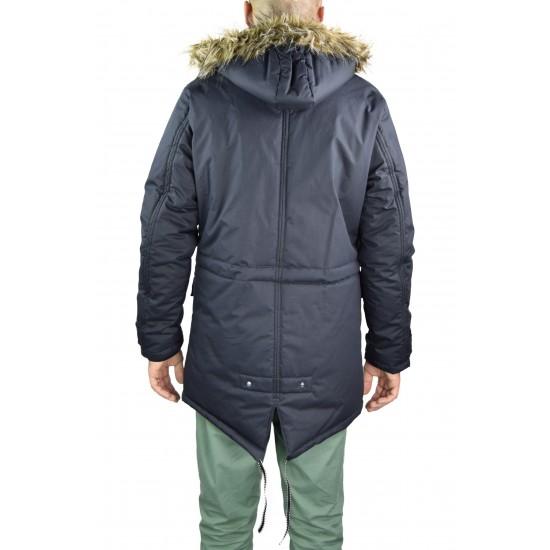 Geaca iarna barbati cm colection culoare bleumarin