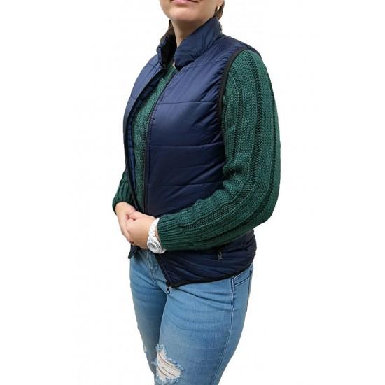 Vesta dama casual cm colection culoare bleumarin