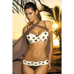 Costum baie dama honey culoare maro