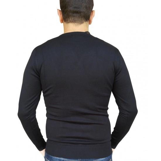 Bluza barbati slimfit barbati leeleith  culoare negru