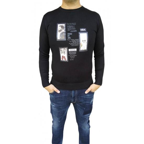 Bluza barbati slimfit  culoare negru