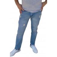 Blugi barbati slimfit albastru deschis