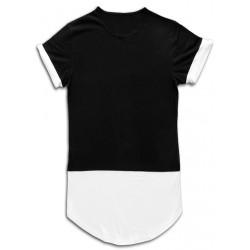 Tricou barbati  casual slim fit yoozze negru-alb