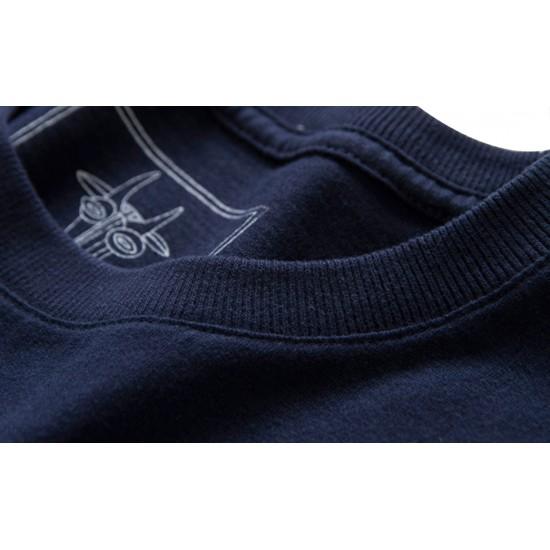 Tricou barbati casual blau grun albastru inchis