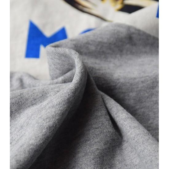 Tricou barbati imprimeu monaco culoare gri