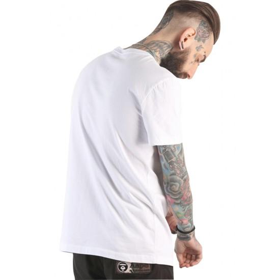 Tricou barbati imprimeu monaco culoare alb