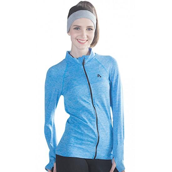 Jacheta dama sport fitness culoare albastra
