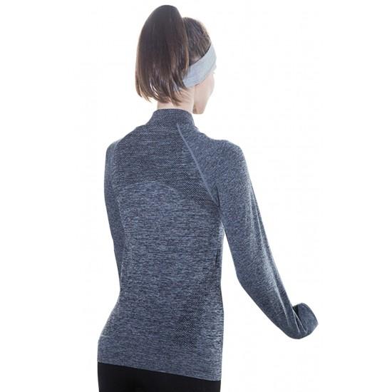 Jacheta dama sport fitness culoare gri