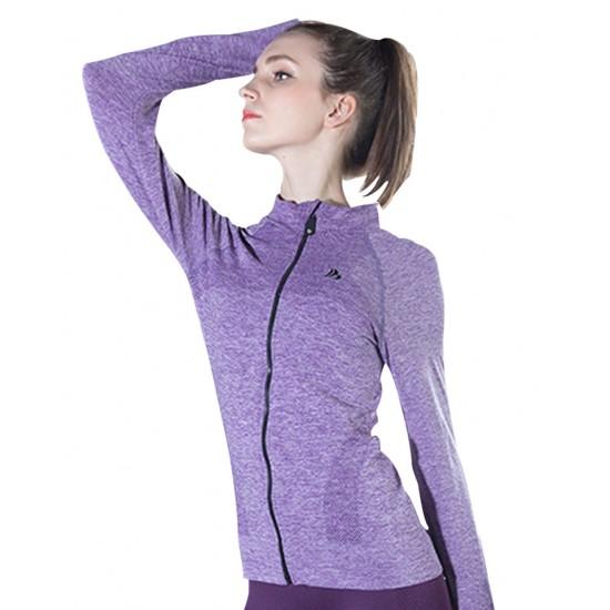 Jacheta dama sport fitness culoare mov