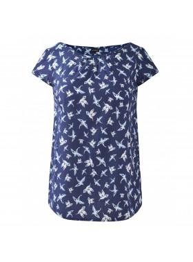Bluza Navy Bird Print, bleumarin