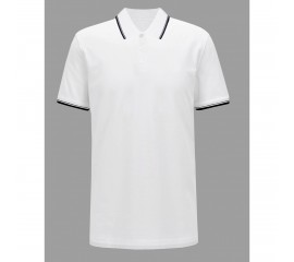 Tricou barbati White Regular Polo, culoare alb