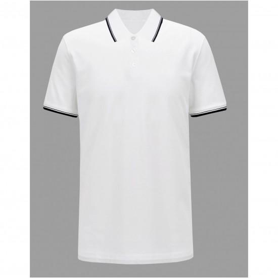 Tricou barbati white regular polo culoare alb