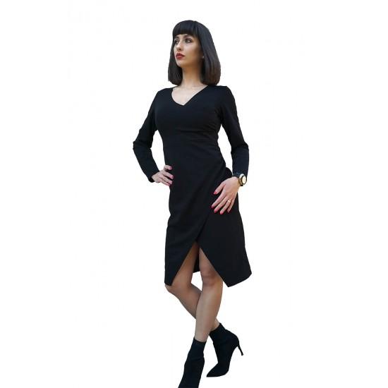 Rochie dama petrecuta softlady culoare negru