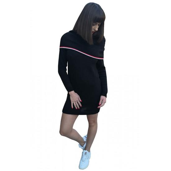 Rochie tricotata dama warmme culoare neagra