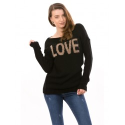 Pulover dama loveair negru