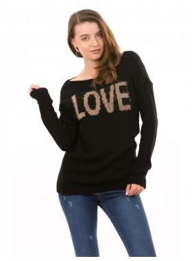 Pulover Dama LoveAir negru