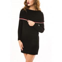Rochie tricotata dama warmme negru