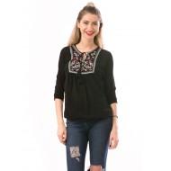Bluza dama calientespring negru-rosu-alb